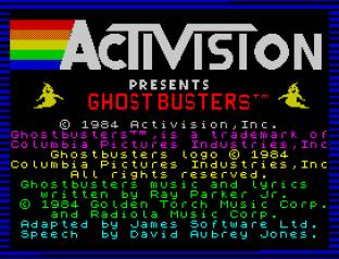 Ghostbusters ZX Spectrum 01