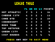 Match Day 2 ZX Spectrum 44