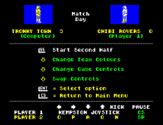 Match Day ZX Spectrum 21