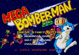 Mega Bomberman Megadrive 001