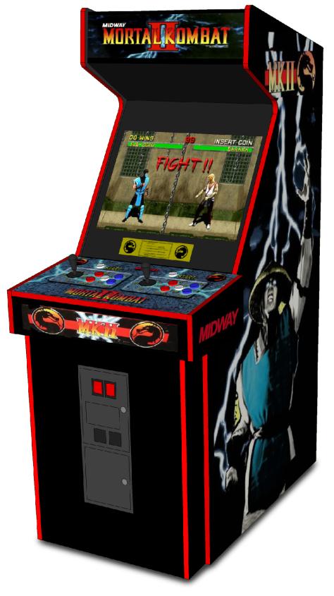 Mortal Kombat 2 Arcade Cabinet 1
