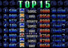 SegaSonic the Hedgehog Arcade 99