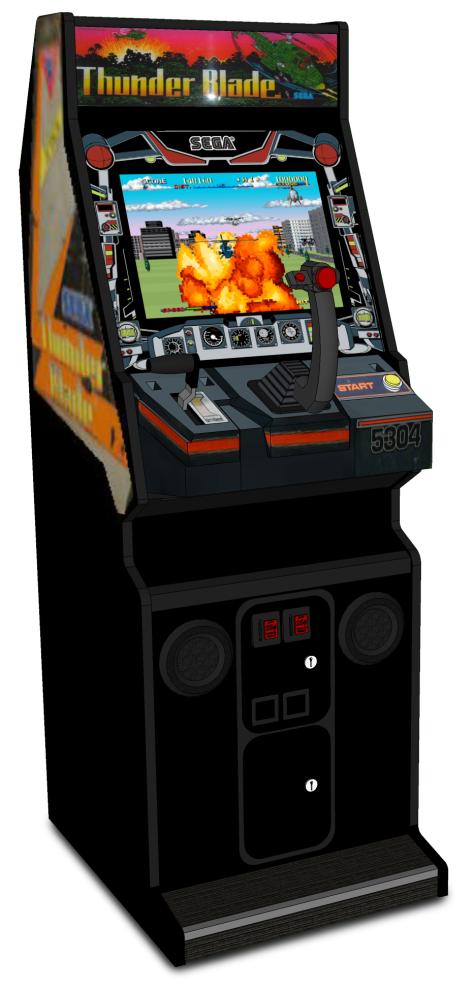 Thunder Blade arcade cabinet 1