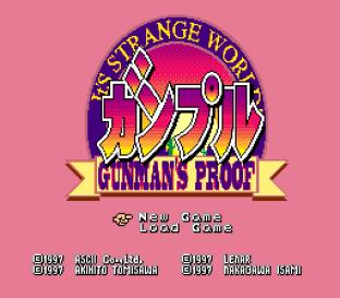 Gunple - Gunman's Proof SNES 001