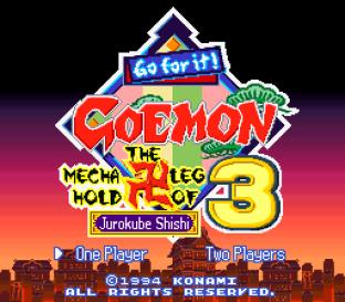 Ganbare Goemon 3 SNES 001