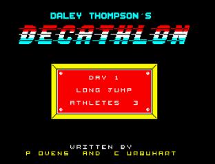 Daley Thompson's Decathlon ZX Spectrum 09