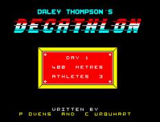 Daley Thompson's Decathlon ZX Spectrum 33