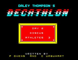 Daley Thompson's Decathlon ZX Spectrum 64