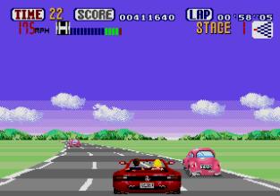 Out Run Megadrive 12