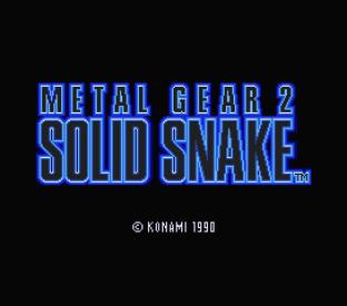Metal Gear 2 - Solid Snake MSX 001