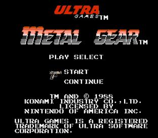 Metal Gear NES 001