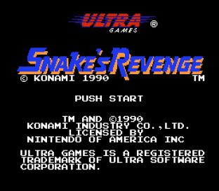 Snake's Revenge NES 001